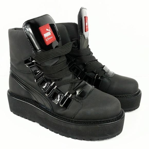 sale retailer 5133b dcab0 Puma Rihanna Fenty Mens Platform Boots Shoes